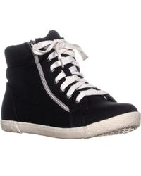 Material Girl - Mg35 Jackie High Top Sneakers, Black - Lyst