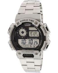 G-Shock - Illuminator Ae1400whd-1av Matte Silver Stainless-steel Quartz Sport Watch - Lyst