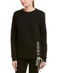 Lea & Viola | Lace-up Detail Sweatshirt | Lyst