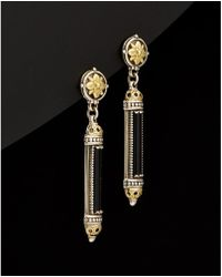 Konstantino - Ismene 18k & Silver 8.00 Ct. Tw. Black Agate Earrings - Lyst