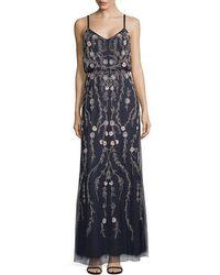 Adrianna Papell - Beaded Blouson Dress - Lyst