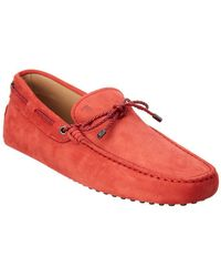 02f2abc57ea Tod S Tods Burgundy New Devon Polished Leather Penny Loafers in Red ...