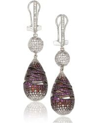 Suzy Levian - Cubic Zirconia Sterling Silver Dangle Drop Earrings - Lyst