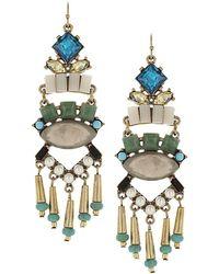 Sparkling Sage - 14k Plated Resin Drop Earrings - Lyst