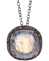 Adornia - Champagne Diamond And Moonstone Lara Necklace - Lyst