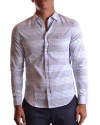 Burberry   Men's Mcbi056075o Light Blue Cotton Shirt   Lyst