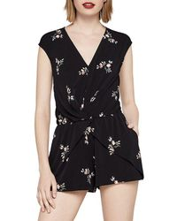 BCBGeneration - Overlap Pleated Romper - Lyst