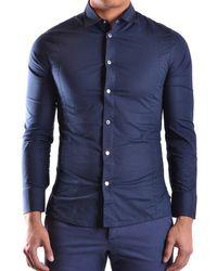 Dirk Bikkembergs | Men's Blue Cotton Shirt | Lyst