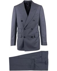 Tom Ford - Mens Grey Pure Wool Double Breasted Two Piece Suit - Lyst