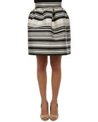 Liu Jo - Women's White/black Polyester Skirt - Lyst