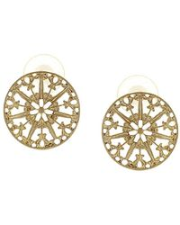 Sparkling Sage - 14k Plated Studs - Lyst