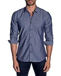 Jared Lang - Men's Modern-fit Micro-diamond Long-sleeve Shirt - Lyst
