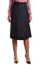 RED Valentino - Women's Jr3ra0g00f10no Black Acetate Skirt - Lyst