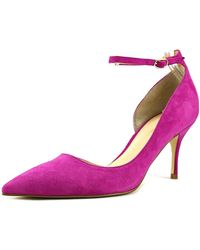 Ivanka Trump - Womens Brita Suede Pointed Toe Ankle Strap Classic Pumps - Lyst