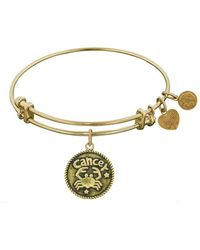 Angelica - Smooth Finish Brass Cancer June Bangle Bracelet, 7.25 - Lyst