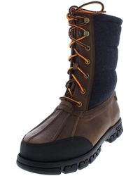 Lauren by Ralph Lauren - Womens Quinlyn Leather Cold Weather Winter Boots - Lyst