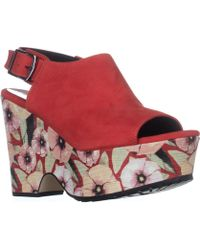 Donald J Pliner - Donald J Pliner Rosie Platform Sandals, Poppy - Lyst