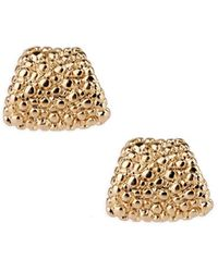 Saachi - Gold Stone Stud Earrings - Lyst