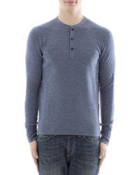 Rag & Bone - Men's Light Blue Wool Sweater - Lyst