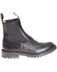Tricker's - Men's Black Leather Ankle Boots - Lyst