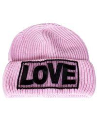 Versace - Women's Pink Wool Hat - Lyst