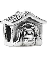PANDORA - Doghouse Silver & Enamel Charm - Lyst