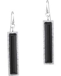 Pangea Mines - Black Onyx Linear Dangle Earrings - Lyst
