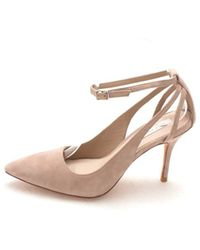 Cole Haan - Womens 13a4150 Suede Pointed Toe Ankle Strap Classic Pumps - Lyst