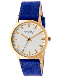 Simplify - The 2800 Leather-band Watch - Lyst
