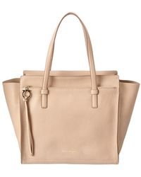 Ferragamo - Amy Large Leather Tote - Lyst