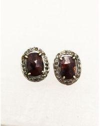 Blue Candy Jewelry - Ruby Diamond Post Earrings Small - Lyst