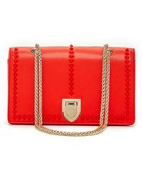 Susu - Josie - Leather Red Crossbody Bag With Studs - Lyst