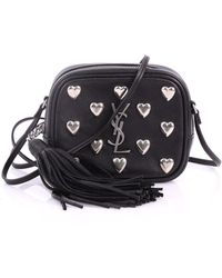 70cb0dc2a9 Saint Laurent - Pre Owned Classic Monogram Blogger Crossbody Bag Studded  Leather Small - Lyst