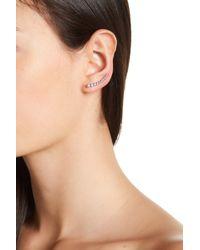 Adornia - Sterling Silver Bezeled Ear Climber Set - Lyst