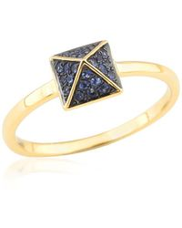 Socheec - Spike Ring With Blue Sapphire In 18k - Lyst