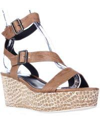 Tahari - Elie Mustique Strappy Platform Sandals, Crema - Lyst