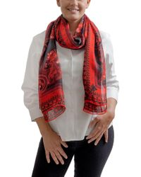 Givenchy - Gw7020 Se039 1 Red Printed Scarf - Lyst
