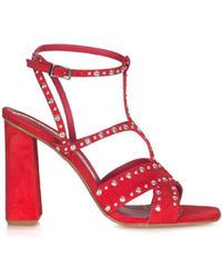 Giancarlo Paoli - Women's Red Leather Sandals - Lyst