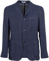 Boglioli - Men's Blue Linen Blazer - Lyst
