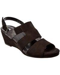 Sesto Meucci - Kayla Leather Wedge Sandal - Lyst
