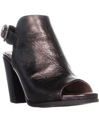 Gentle Souls - Shiloh Slingback Peep Toe Ankle Boots, Pewter - Lyst