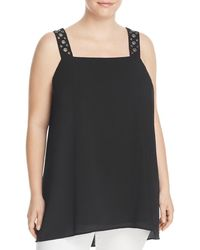 Vince Camuto - Womens Plus Sleeveless Hi-low Blouse - Lyst