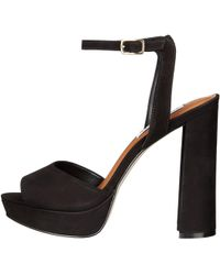 Steve Madden - Womens Brrit Leather Open Toe Special Occasion Platform Sandals - Lyst