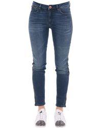 Scotch & Soda - Women's 10075580 Blue Synthetic Fibers Jeans - Lyst