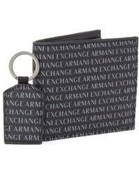Armani Exchange - Men's Black Leather Wallet - Lyst
