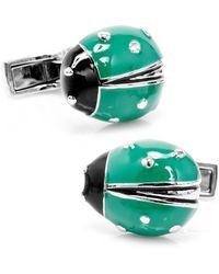 Ravi Ratan - Green Lucky Ladybug Cufflinks - Lyst