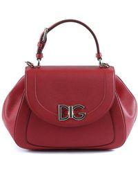 Dolce & Gabbana - Dolce E Gabbana Women's Red Leather Handbag - Lyst