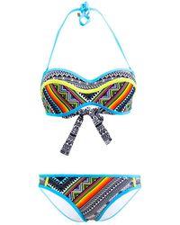 Les P'tites Bombes - 2 Pieces Multicolor Swimsuit Bandeau B Cup Bali 001 - Lyst