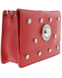 Versace - Ee1vqbbr6 E500 Compact Oblong Bag- Jeans Signature Medallion Red - Lyst