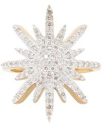 Adornia - Diamond And 14 Karat Yellow Gold Starburst Ring - Lyst